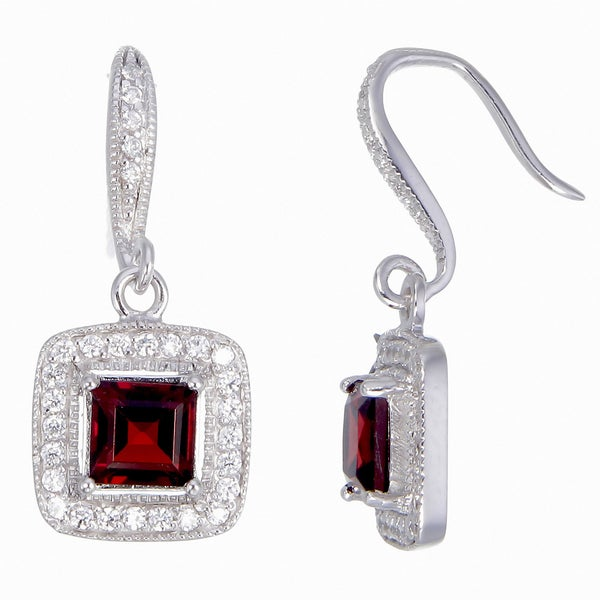 Women X27 S Sterling Silver 1 80 Carat Garnet And White Cubic