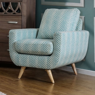 Furniture of America Carissa Mid-Century Modern Style Linen-like Fabric Accent Chair