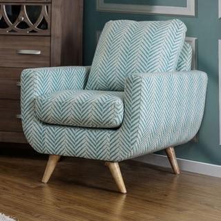 Furniture of America Carissa Mid-Century Modern Fabric Accent Chair