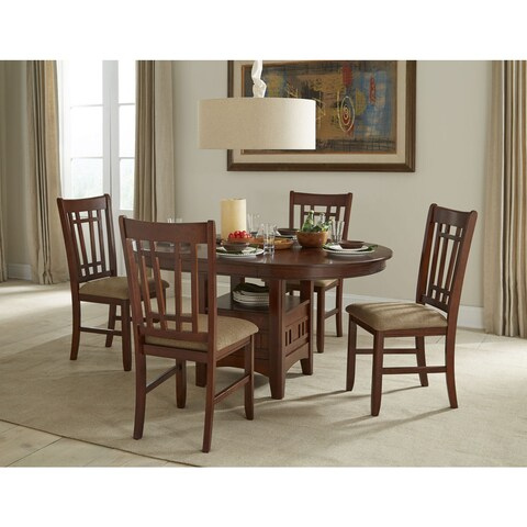 Mission Casual Dark Planed Oak 42x42-60 Dinette Table - Brown