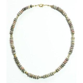 Palmtree Gems 'Tarzan' Leopardskin Jasper Men's Necklace