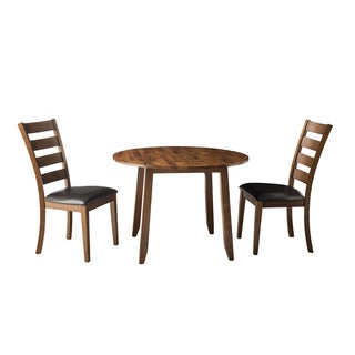 Kona Brandy 42 Inch Round Drop-Leaf Dinette Table - Brown