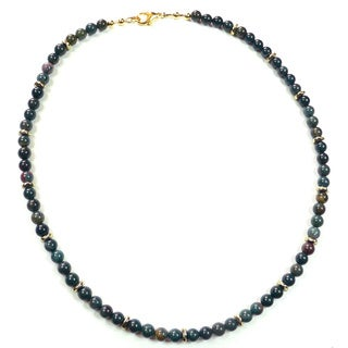 Palmtree Gems 'Samurai' Indian Bloodstone Necklace
