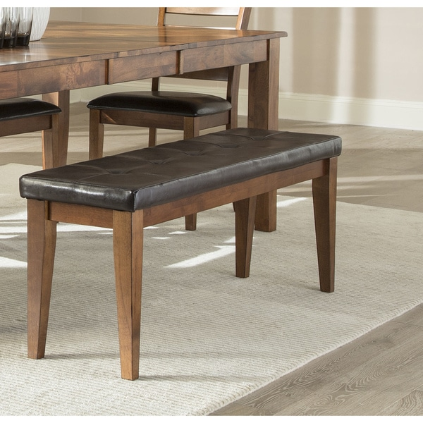 Exceptionnel Kona Brandy Padded Backless Dining Bench