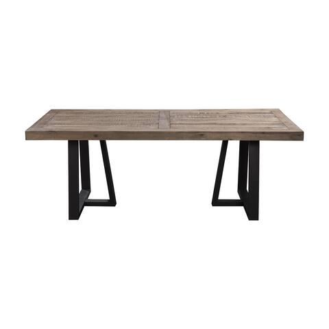 Alpine Prairie Rectangular Dining Table - Black