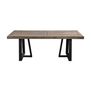 Alpine Prairie Rectangular Dining Table - Black