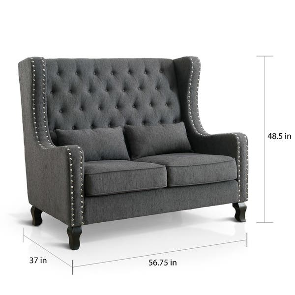 Amazing Shop Furniture Of America Lystelle Romantic Wingback Button Pabps2019 Chair Design Images Pabps2019Com