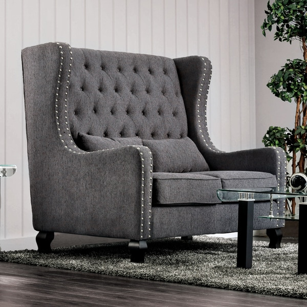 Shop Furniture Of America Lystelle Romantic Wingback