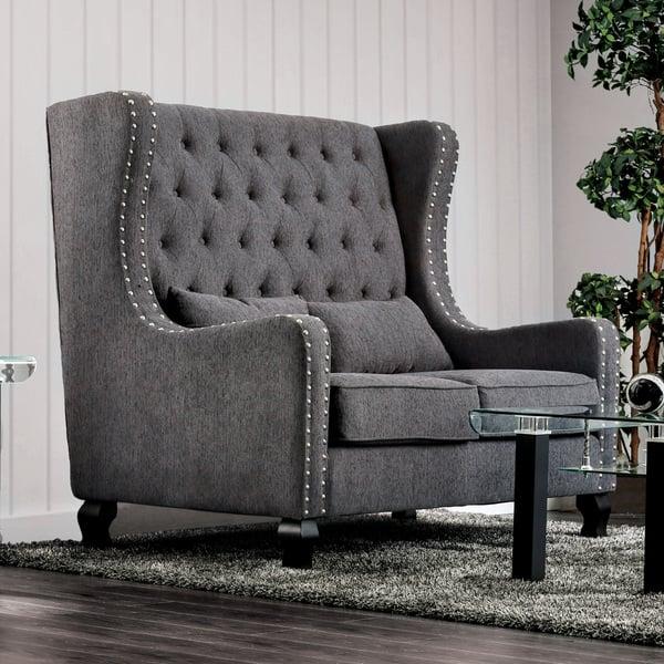Tremendous Shop Furniture Of America Lystelle Romantic Wingback Button Pabps2019 Chair Design Images Pabps2019Com