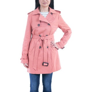 Lee Cobb Women's Cotton Double-breasted Trench Coat