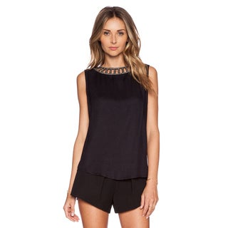 MLV Luna Black Beaded Top