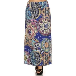 Women's Plus Size Mandala Maxi Skirt