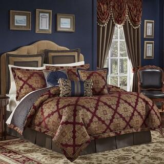 Croscill Sebastian Chenille Jacquard Woven Medallion 4 Piece Comforter Set