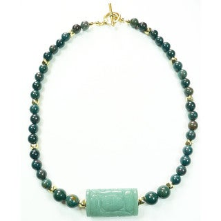 Palmtree Gems 'Geisha' Indian Bloodstone Necklace