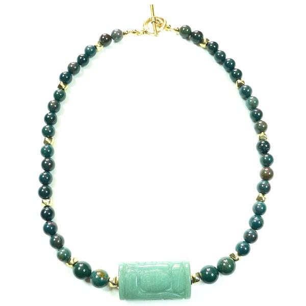 Shop Palmtree Gems 'Geisha' Indian Bloodstone Necklace