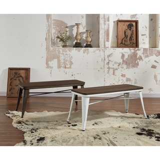 Link to The Gray Barn Quarry on the Cattail Industrial-style Backless Double Dining Bench Similar Items in Kitchen & Dining Room Chairs