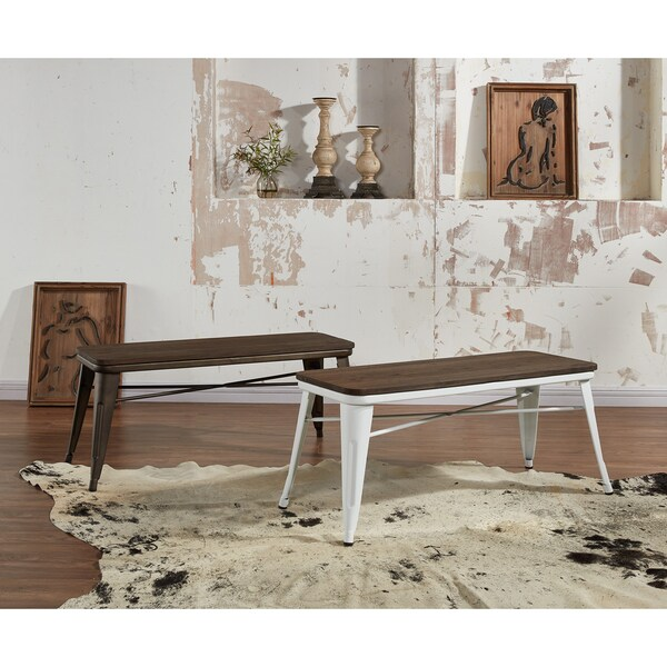 The Gray Barn Quarry on the Cattail Industrial-style Backless Double Dining Bench. Opens flyout.