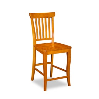 Venetian Pub Chairs with Wood Seat in Caramel Latte (Set of 2)