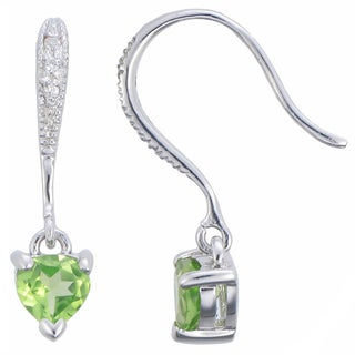 Sterling Silver Peridot Drop Earrings