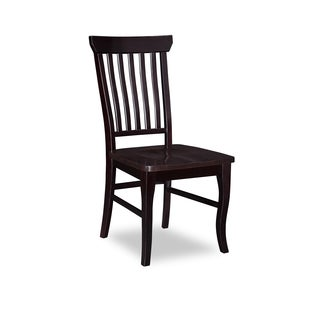 Venetian Dining Chairs with Wood Seat in Espresso (Set of 2)