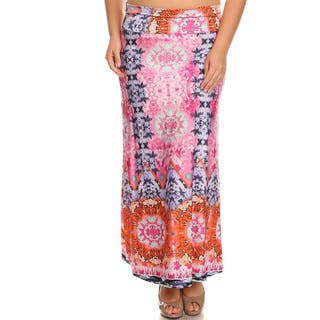 Women's Multicolored Polyester and Spandex Plus-size Paisley Maxi Skirt|https://ak1.ostkcdn.com/images/products/13000550/P19745271.jpg?impolicy=medium