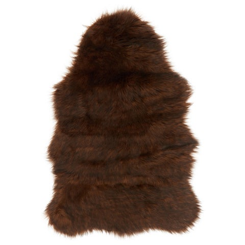 Faux Fur Two-toned Textured Shag Rug