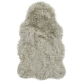 Faux Fur Two Toned Textured Rug 3