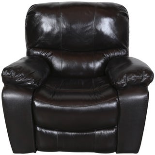 Porter Ramsey Black Cherry Top Grain Leather Power Gliding Recliner