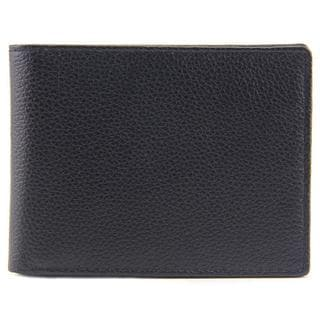Perry Ellis Men's Passcase Wallet Black Leather Handbag