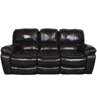 Porter Ramsey Black Cherry Top Grain Leather Power Dual Reclining Sofa