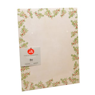 Gartner Studios Holiday Pine Red, Green, and White Paper Stationery (Case of 80)