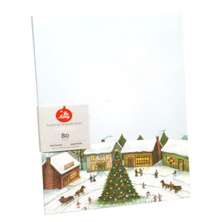 Winter Village Multicolor Paper Holiday Stationery (Case of 80 Pieces)