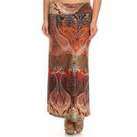 Plus Size Women's Paisley Tapestry Maxi Skirt