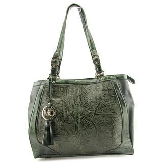Madi Claire Women's 'Martina' Green Leather Handbag