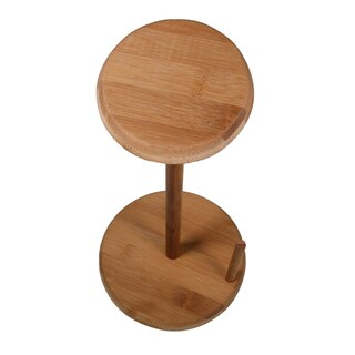 KitchenWorthy Brown Bamboo Paper Towel Holder