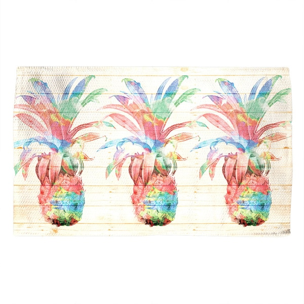 Laural Home Watercolor Pineapples Accent Rug (4' x 6')