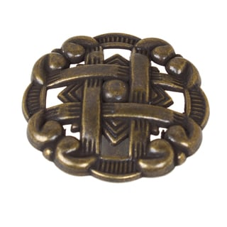 GlideRite 1.375-inch Celtic Medallion Antique Brass Cabinet Knobs (Pack of 10 or 25)