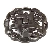 GlideRite 1.375-inch Celtic Medallion Brushed Pewter Cabinet Knobs (Pack of 10 or 25)