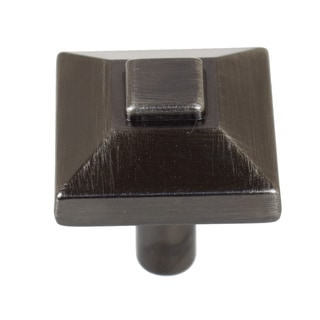 GlideRite 0.875-inch Square Pyramid Brushed Pewter Cabinet Knobs (Pack of 10 or 25)