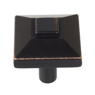GlideRite 0.875-inch Square Pyramid Oil Rubbed Bronze Cabinet Knobs (Pack of 10 or 25)