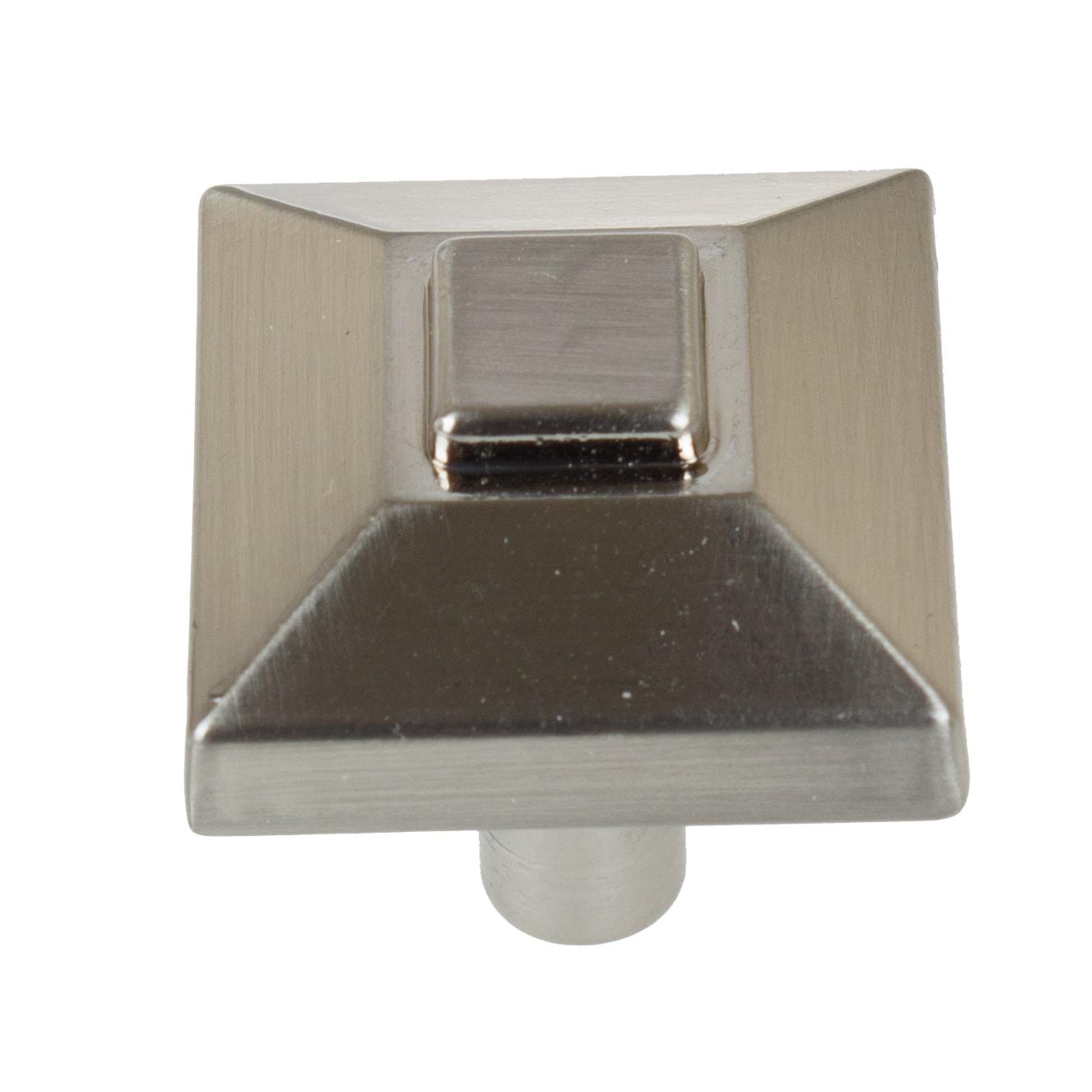 GlideRite 0.875-inch Square Pyramid Satin Nickel Cabinet ...