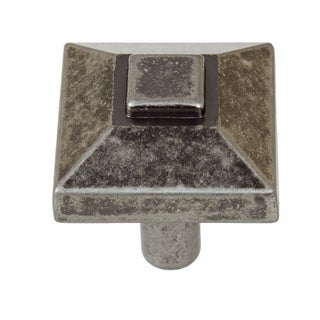 GlideRite 0.875-inch Square Pyramid Weathered Nickel Cabinet Knobs (Pack of 10 or 25)