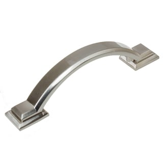 GlideRite 3-inch CC Arched Square 4.375-inch Length Satin Nickel Cabinet Pulls (Pack of 10 or 25)