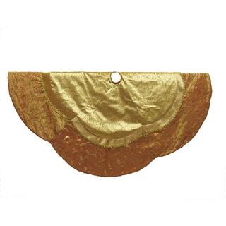 Kurt Adler 60-Inch Gold Etched Velvet Treeskirt