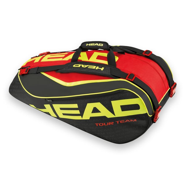 Head Extreme Supercombi 9 Pack Black/Red/Yellow Tennis Bag