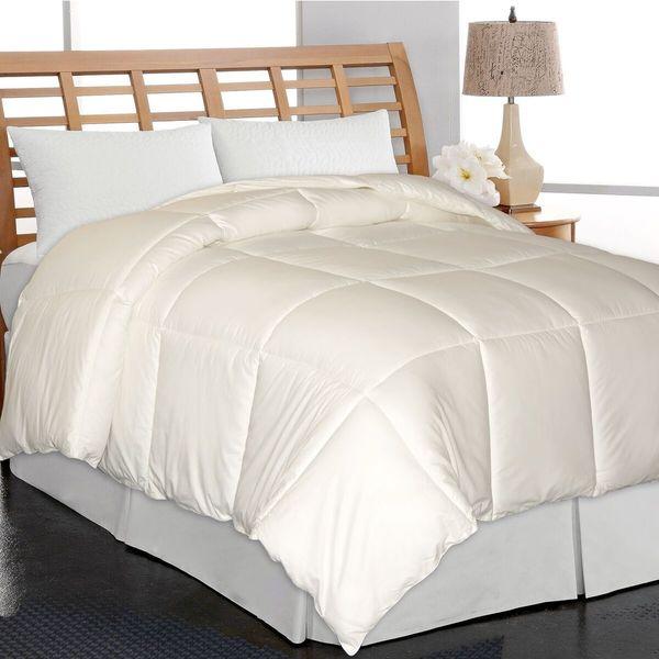 Elle Home Eco Unbleached Cotton Down Alternative Comforter