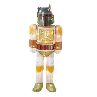 Kurt Adler 28-Inch Star Wars Boba Fett Lighted Tinsel Décor