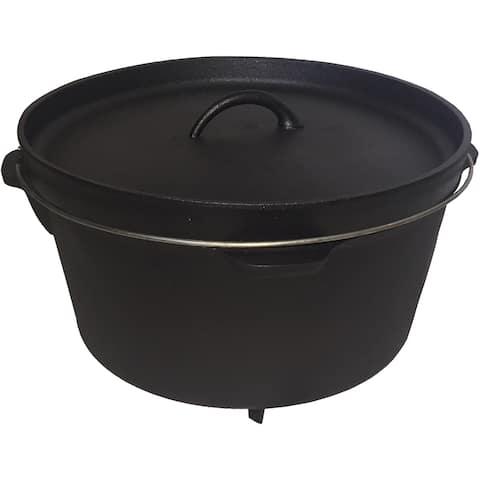 Moose Country Gear Black Cast Iron 12-quart Dutch Oven