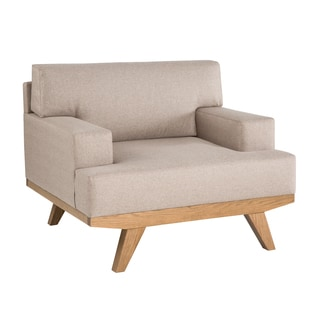 INK+IVY Martin Beige/Natural Lounger