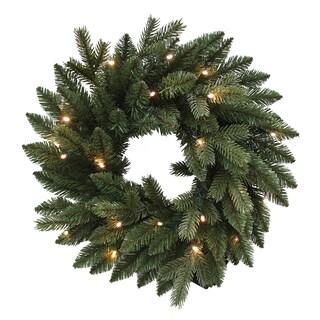 Kurt Adler 18-inch Pre-lit PE LED Wreath